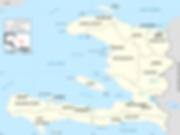 Carte des départements d'Haïti