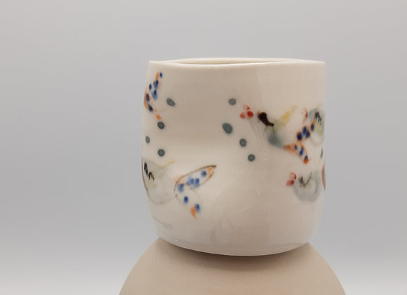 Small Pinch Cups Without Handles - Goldfish Motif