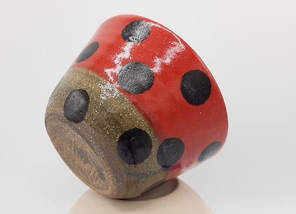 Petit bol, design rouge et noir - base en terre