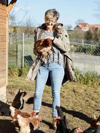 Hühner streicheln