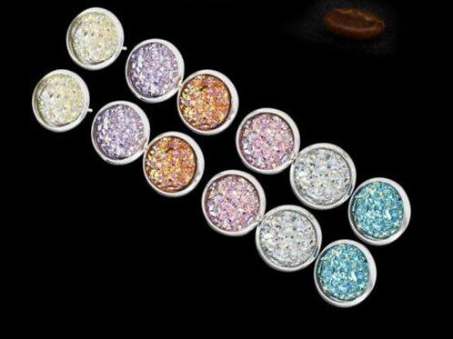 Austrian Crystal Stud Earrings (6 pairs)