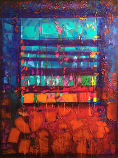 """MAGIC WINDOW 48""""/36"""") original $3,200.00 (SOLD), Streched Canvas 380.00, Giclee Prints on Paper start at 30.00"""