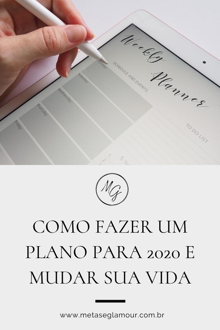 Anotações de planejamento no tablet