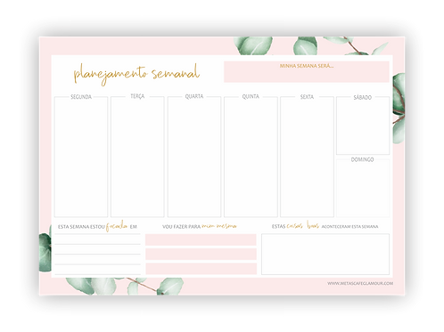 Plannner semanal folhagens II download