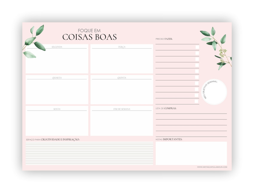 Planner Semanal para imprimir