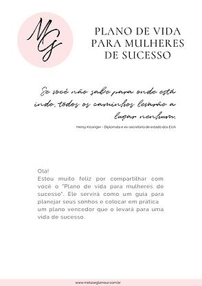 Plano de vida para mulheres de sucesso.p