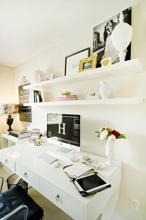 Decoração para prateleira de home office