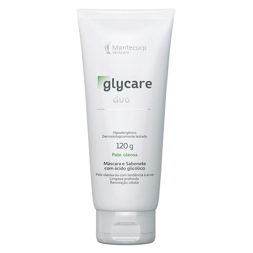 Como cuidadar de pele Máscara e Sabonete com ácido Mantecorp
