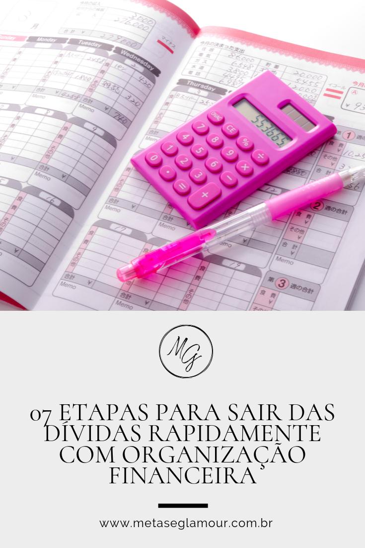 Planejador e calculadora para anotar as dívidas