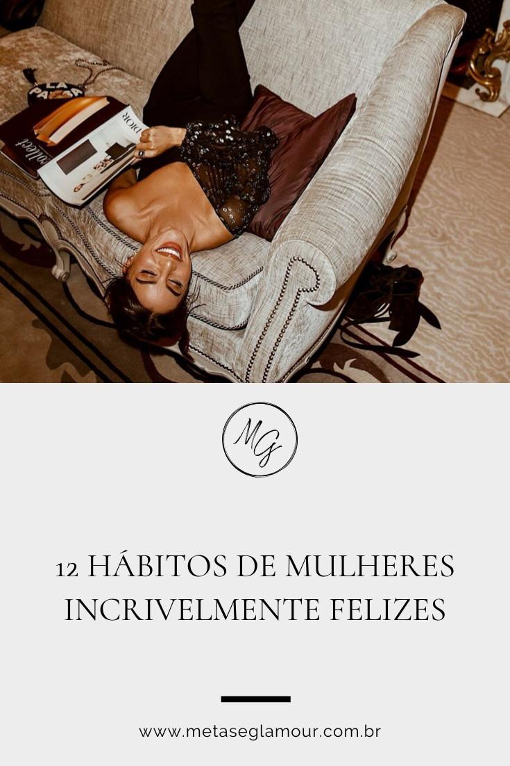 Mulher com hábitos felizes