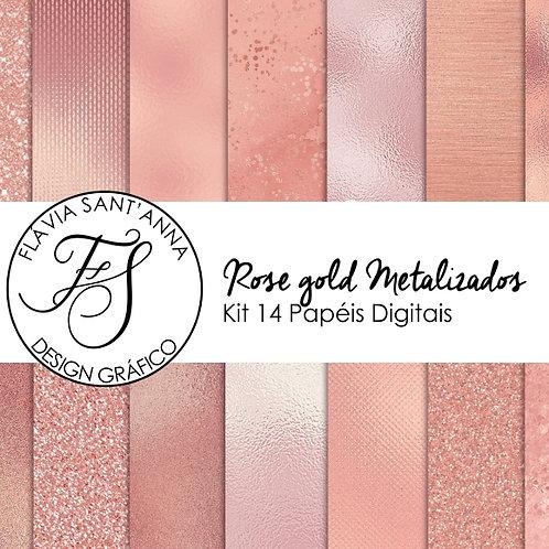 Kit Papel Digital Rose Gold