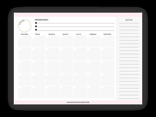 Planejador mensal prioridades para download