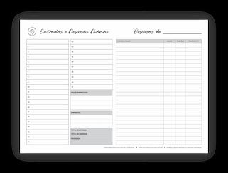 Planner Financeiro Mensal