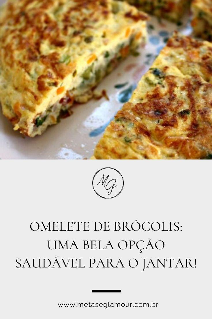Omelete de Brócolis para um jantar saudável
