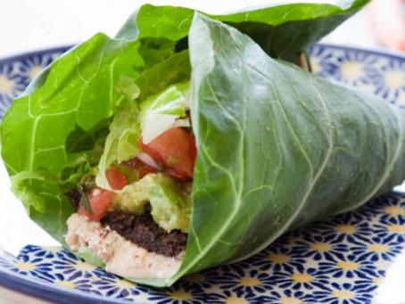 Alimentação saudável: Wrap de couve