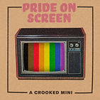 Pride on Screen logo, a TV with a rainbow on the screen