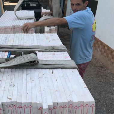 carregamento de piso paginado para envio em obra em Jacarei SP