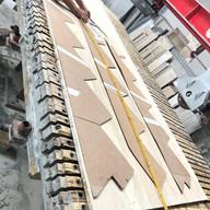moldes para lateral escada em travertino navona