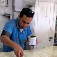 aplicacao de resina em ladrilho de travertino navona