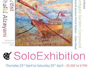 Invitation for my solo exhibition April 23-April 25, 2015