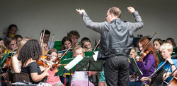 Rob conducting in Sidmouth