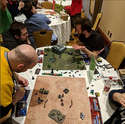 Players enjoying Breachstorm at CaptainCon 2018