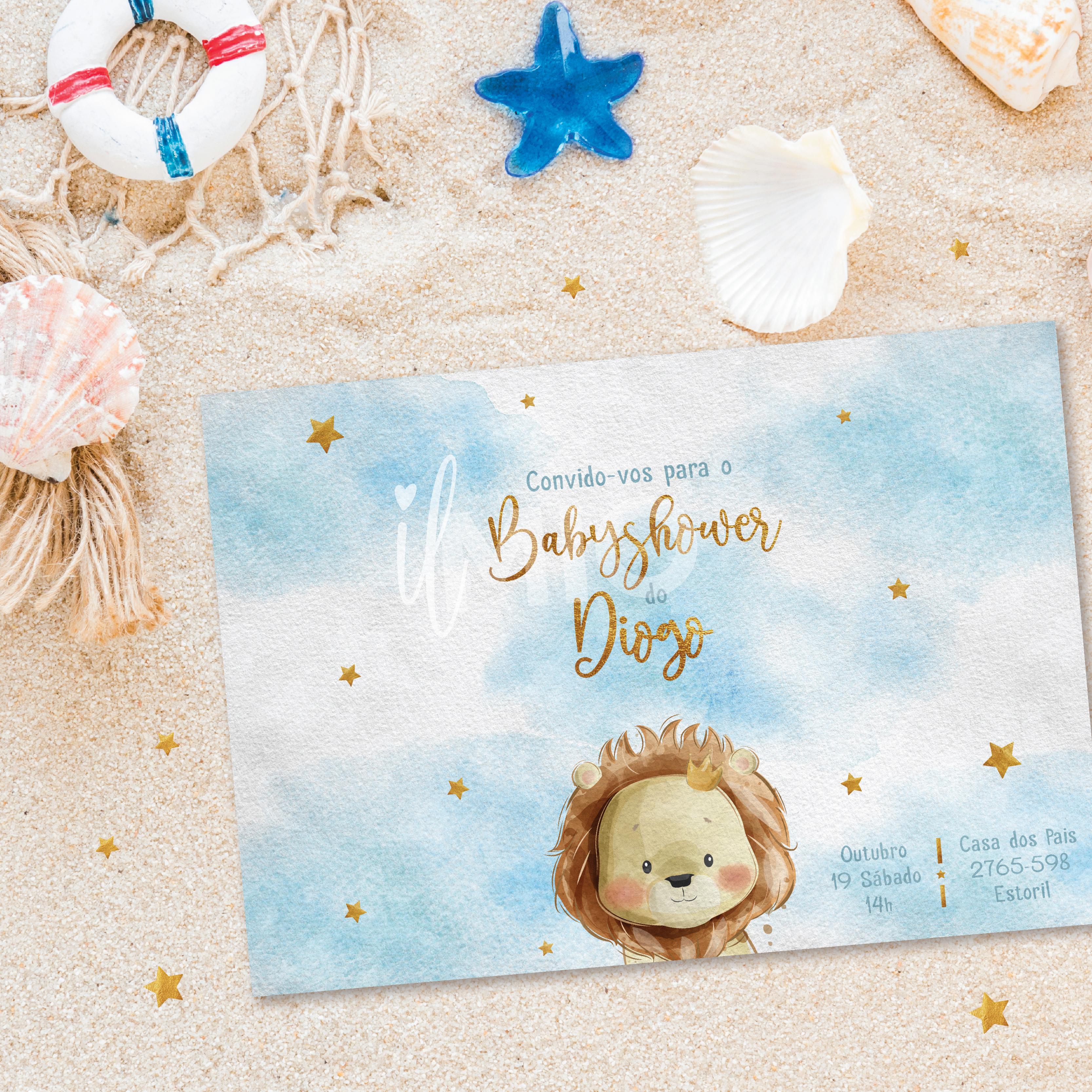 Convite de babyshower personalizado