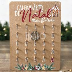 Calendário de natal personalizado