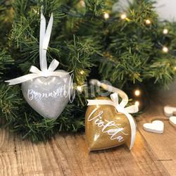 Corações de natal personalizados