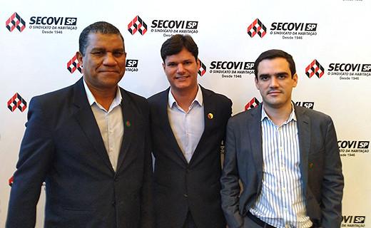 Equipe Konstroi - Jorge Hora (Comercial São Paulo), Leonardo Lima (Sócio Diretor Comercial) e Victor Benevides (Sócio Diretor de Tecnologia).