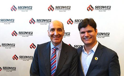 Basílio Jafet (Presidente do Secovi SP) e Leonardo Lima (Sócio Diretor Comercial Konstroi).