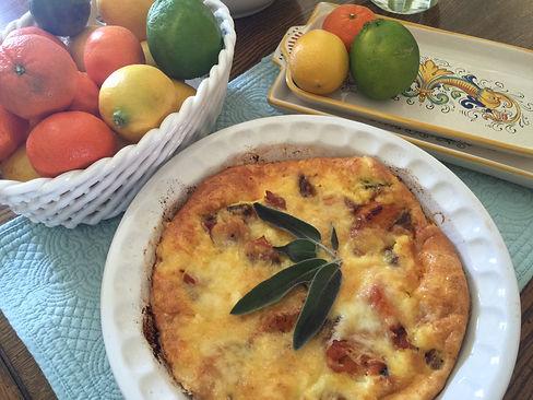 Breakfast Option - Fruit and Frittata
