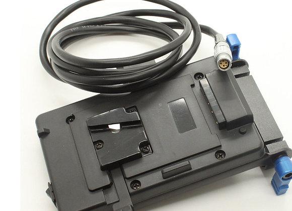 Pro V-mount/Anton Mount Battery Plate 15mm Power System 4 Red Scarlet/Epic DSLR