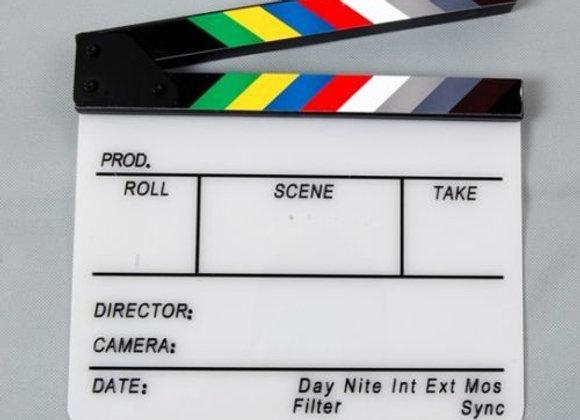 New acrylic  Film Slate Movie Clapper Board