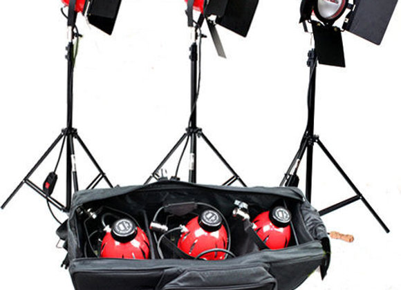 New 3*800w Studio Video Red Head Continuous Lighting Kit