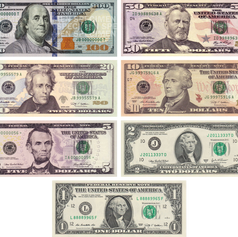 Currency of the USA - USD / $