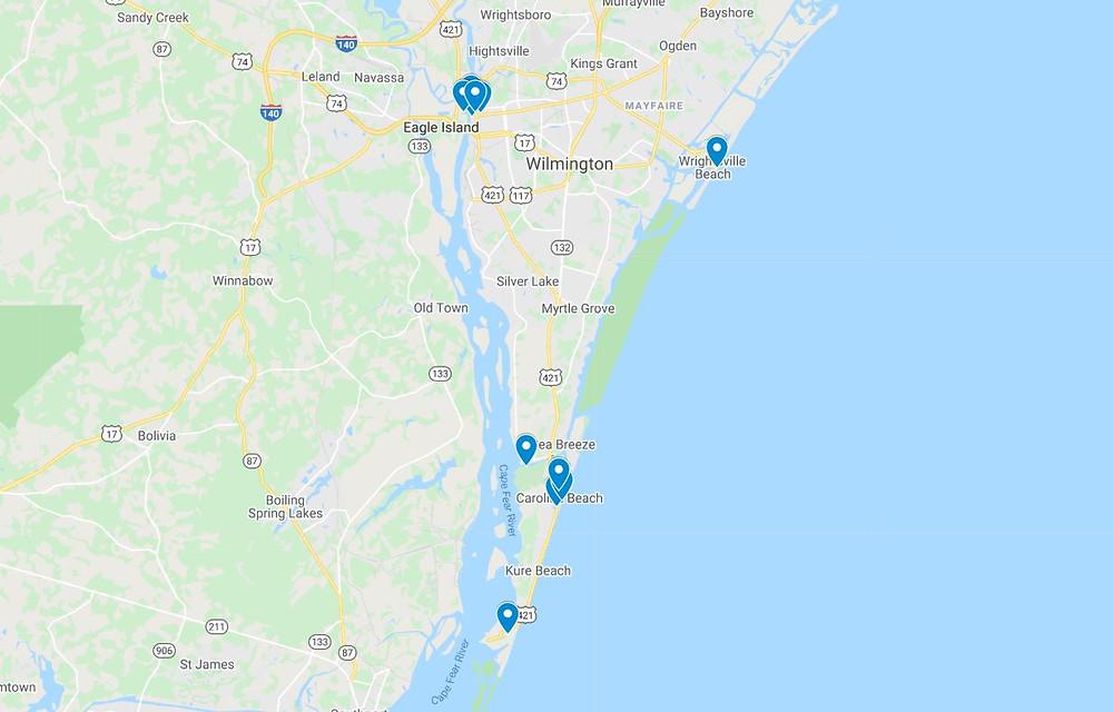 citytraveljournal Wilmington map