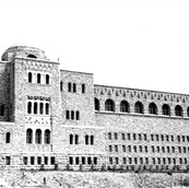 The Hebrew university Building on Mt Scopus, 1946.jpg