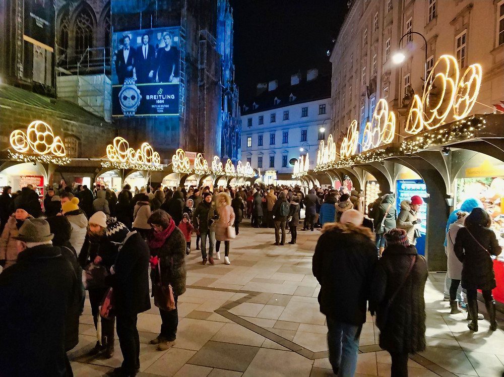Christmas Market Stephan Cathedral Vienna
