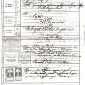 Chaya Ides Birth Certificate Lutowiska