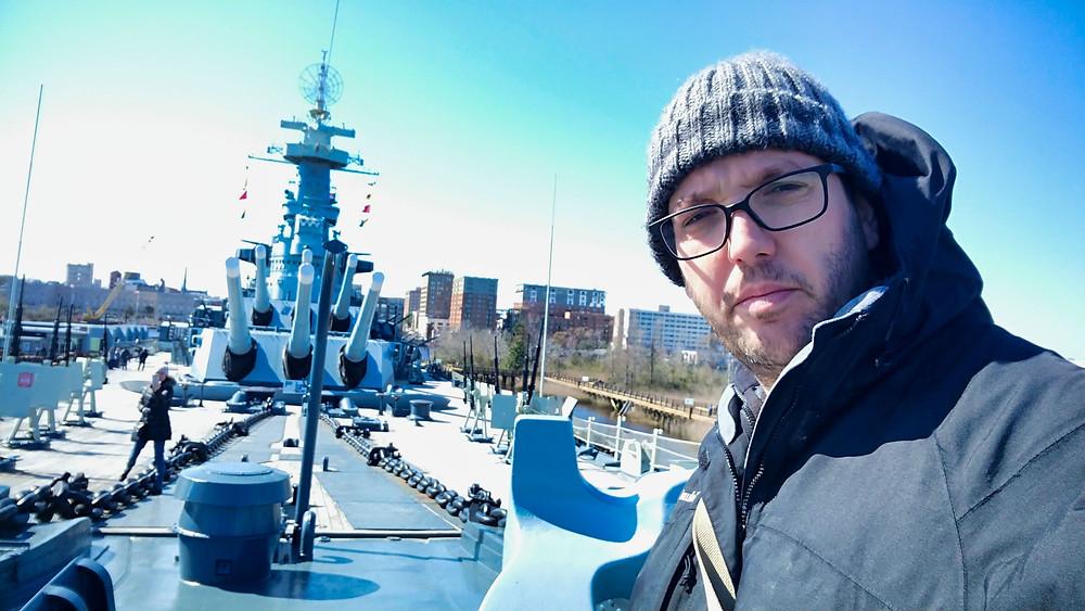 Boaz Albert on Battleship North Carolina
