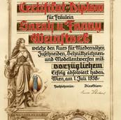 July 1938 Fay & Sara Corsetry Certificat