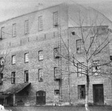View of the flour mill on Janko Veselinovic Street in Sabac, where the Jewish refugees of the Kladova transport were housed.jpeg