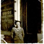 1938 Sara at Weinstock Woolshop.jpg
