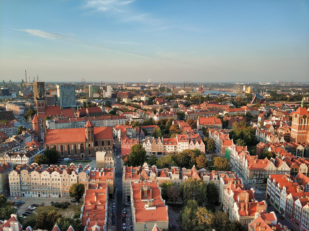 Views from top of St. Mary Basilica Gdansk