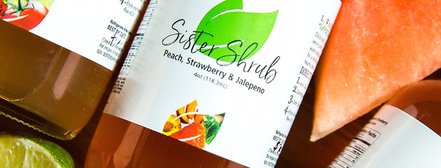 Sister Shrub - Peach Strawberry & Jalapeno