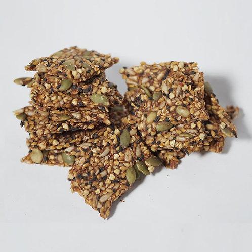 Raw Buckwheat & Flax Seed Pizza Crackers