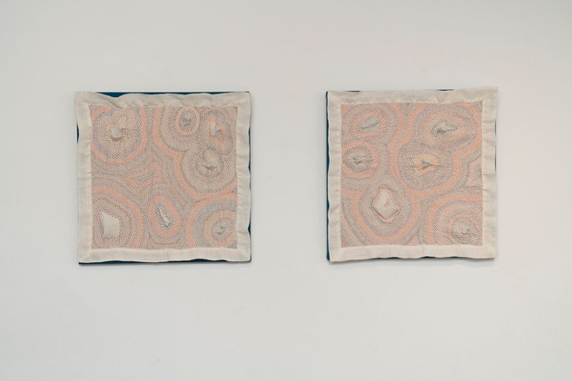 Bone Napkin I & II, Installation Shot, 2020