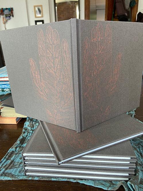 Copper Leaf Hand Blank Journal