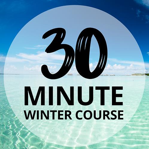 30 Minute Winter Sunbed Course